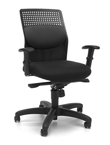 OFM AirFlo Series Executive Task Chair - Ergonomic Work Chair, Gray (650-M12)