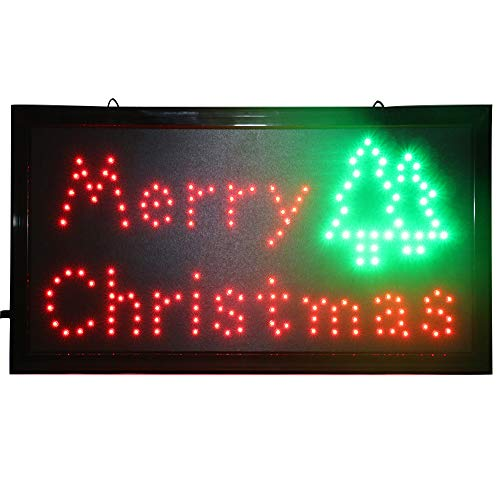- CHENXI Merry Chirstmas LED Open Sign Rushed Sale Graphics Animated Motion Running 48 X 25 cm Indoor (48 X 25 cm, Merry Christmas-01)