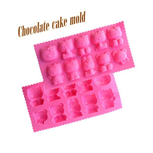 Lovely Hello Kitty Cake Cookie Silicone Gel Mold Mould Baking Pan