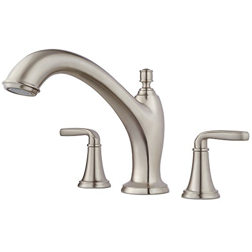 - Pfister RT6-5MGK Northcott 3-Hole Roman Tub, Trim Only, in Brushed Nickel