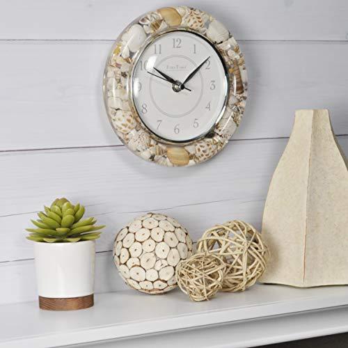 - FirsTime & Co. 99638 Clear Seashells Wall Clock, 8.5