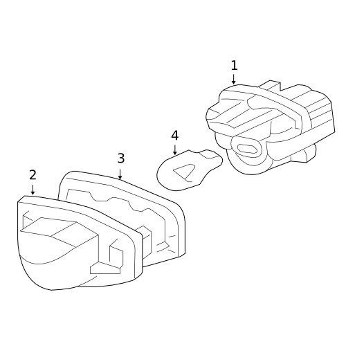 Honda License Plate Light Lens Gasket - 34103-S60-003