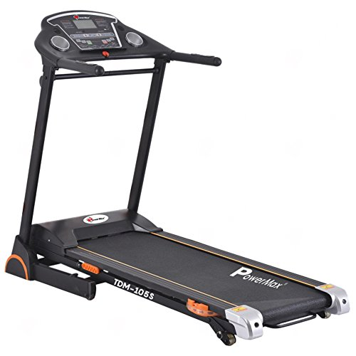 PowerMax Fitness TDM-105S 2HP (4HP Peak) Motorized Treadmill with Free Installation Assistance, Home Use & Semi Automatic Lubrication