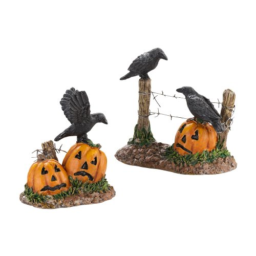 Dept 56 Halloween Village Accessories (Department 56 Accessories for Villages Halloween Ravens, 1.77 inch)
