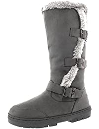 Womens Slouch Snow Winter Waterproof Long Zip Knee High Boots