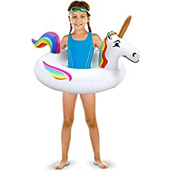 GoFloats Unicorn Pool Float Party Tube – Inflatable Rafts, Kids & Adults