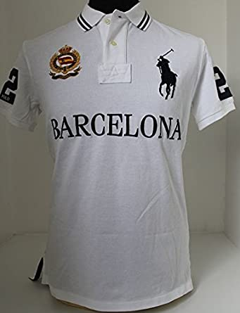 Lauren Polo Pony White Espana Mens Big Ralph Barcelona Custom Spain vmNn08w