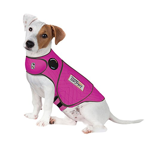 Thundershirt Sport Dog Anxiety Jacket | Vet Recommended Calming Solution Vest for Fireworks, Thunder, Travel, Separation | Fuchsia, Small, Small (15-25 lbs)