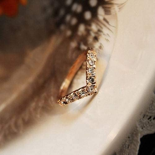 QINGDs Gold Pretty Lady Crystal Ring Princess Ring Beauty Girls Hot Golden,One Size