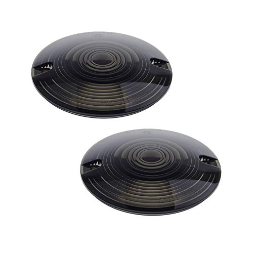 2006 Harley Davidson Sportster - NTHREEAUTO Turn Signal Lights Lens Covers Smoked Compatible with Harley Touring Electra Glide Road King Softail