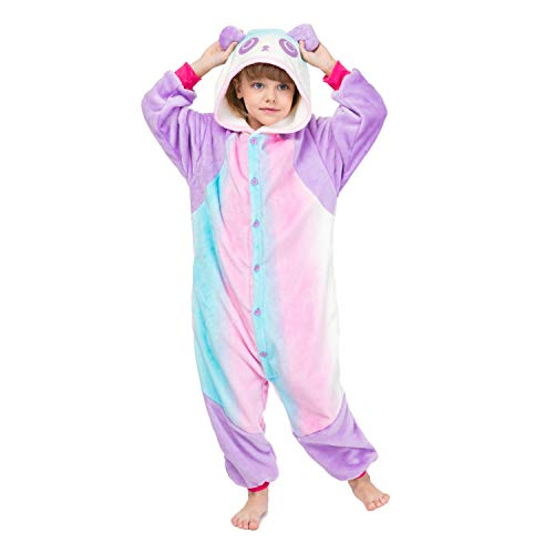 RONGTAI Kids Unisex Animal Flannel Panda Onesie Pajamas Cosplay Costume(115#(51