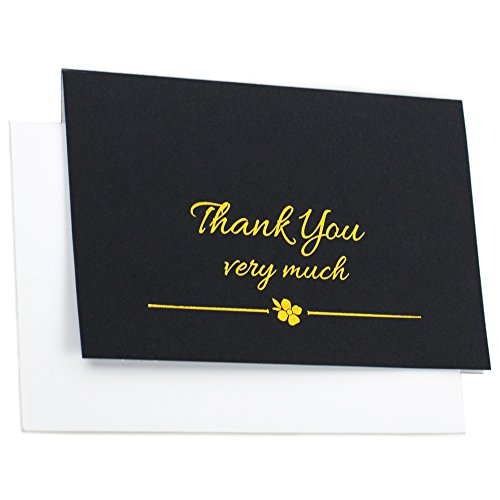Gold Thank You Cards With Envelopes - For Weddings, Birthdays, Baby Showers, Christmas, Gift Appreciation - 4 x 6 - 20 pack Photo #4