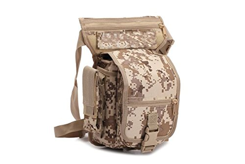Black Hawk Commandos 2018 Outdoor Camouflage Bags Waterproof Tactical Bags 1L Hiking Camping climbing Sports Bags Military Bags Waist Packs BL010 (C) (Odm Belt)