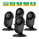 Cheap SMONET Security Camera Wireless, Home Security IP Camera with Two-Way Audio, Night Vision, Full HD 1080P 2.0 Mega-Pixel Indoor Surveillance Camera for Elder/Baby/Nanny/Pet Monitor (Black, 4Packs)