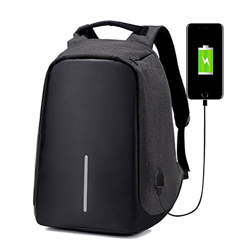 anti theft backpack Multifunction USB Charge Men 15inch Laptop Backpacks School Bags Leisure Travel Backpack Black 15 Inches
