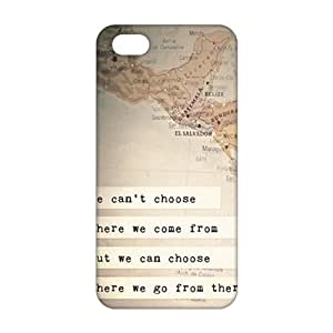 Fortune Inspirational travel quotes 3D Phone Case for iPhone 5s