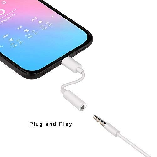 iOS 10.3 or Later - White 3.5 mm Headphone Jack Adapter ZENVAN Best Connector for iPhone X//iPhone 8//8 Plus//iPhone 7//7 Plus//iPad Support Music Control /& Calling Function