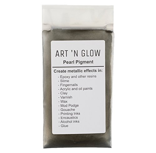 Pearl Pigment Powder (Gunmetal Gray) - (.88 Ounce/25 Grams) - 10+ Colors Available (Metal Resin)