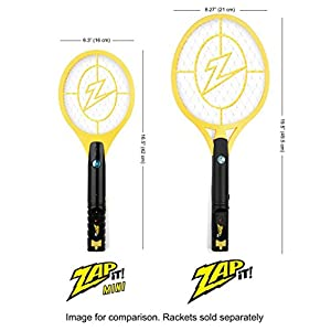 Zap It! Twin Pack Bug Zappers - Rechargeable Mosquito, Fly Killer and Bug Zapper Racket - 4000 Volt - USB Charging, Super-Bright LED Light to Zap in the Dark