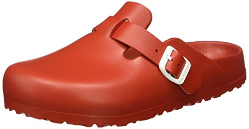 Birkenstock Boston EVA Red - Zuecos para mujer Rojo (Red)