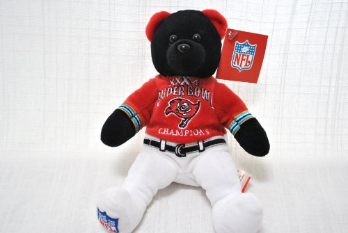 - TAMPA BAY BUCCANEERS OFFICIAL SUPER BOWL 37 CHAMPIONSHIP NFL LARGE SUPER BOWL CHAMPIONSHIP LOGO 8IN SPECIAL FABRIC FOOTBALL NFL PLUSH TEDDY BEAR
