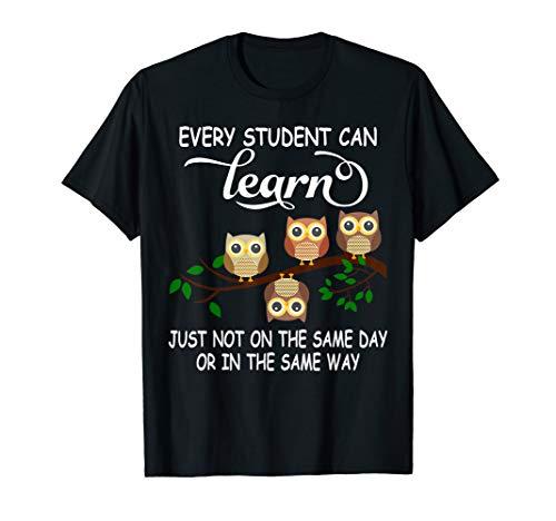 Every Student Can Learn Cute Owl T shirt Student Teacher