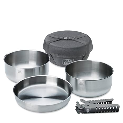 Amazon.com: Esbit Cookware stainless steel cooking set ...