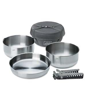 Esbit - Set de cocina para camping (acero inoxidable) 1,8 L/2,0 L
