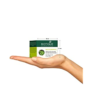 Biotique Bio Chlorophyll Oil Free Anti-Acne Gel & Post Hair Removal Soother For Oily & Acne Prone Skin, 50G