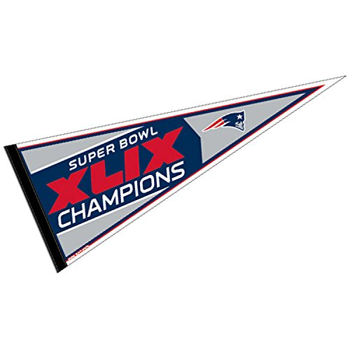 (WinCraft New England Patriots Official NFL 30 inch Super Bowl 49 Champions Pennant by)