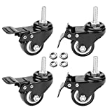 """AAGUT 2"""" Stem Caster Wheels with Brake"""