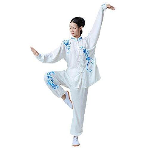 ShanRen Sports Women's Kung Fu Tai Chi Uniform Embroidery Cotton Silk (Silk Uniform)