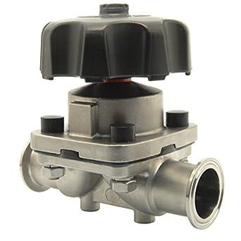 Hfs r 1 12 tri clamp sanitary diaphragm valve ss 316 3a amazon hfs r 1 12quot tri clamp sanitary diaphragm valve ccuart Choice Image