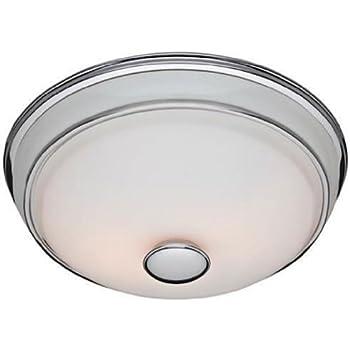 Hunter 81021 Ventilation Victorian Bathroom Exhaust Fan And Light  Combination, Silver (Bathroom Vent Fan