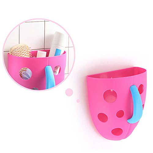 Pickup Sticks Letter - Bath Toy Organizer Storage Bin Baby Toys Bathroom Bag Kids Net Super Scoop Tub with Magic Cube (rose red)