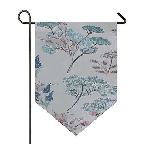 Garden Flag Light Collection Floral S Soft Colors Decorative Double Sided Polyester 12 X 18.5 Inch Small Garden Flags