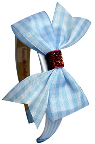Dorothy Wizard of Oz Gingham and Ruby Red Glitter Arch Costume Headband