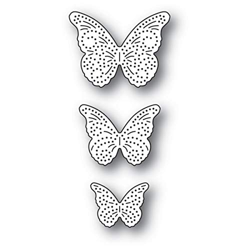 Trio Butterfly Art (Memory Box - Cutting Die - Pinpoint Butterfly Trio (94279))