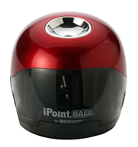 Westcott 6.5'' x 3'' x 6'' iPoint Ball Pencil Sharpener, Case of 12, Red/Black (15570) by Westcott