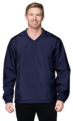 Tri-Mountain J2450 Lightweight Windproof Polyester Shell Windshirt - Navy - 3XLT Mens Regular Pullover Windshirt