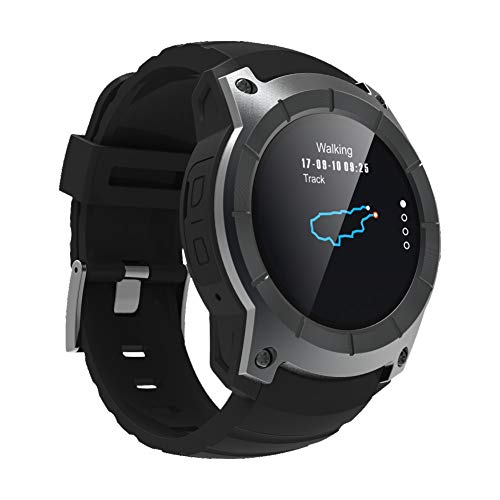 ETbotu Unisex Adult S958 Bluetooth Smart Watch Support GPS Air Pressure Call Heart Rate Sport Watches Black