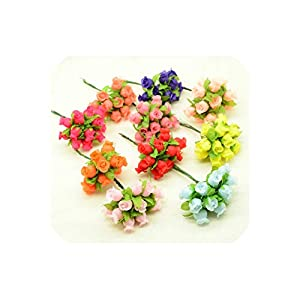 April With You 144pcs/bag Artificial Flowers Silk Roses Bouquet Christmas Decor for Home Wedding Party car Accessories DIY Wreath Gifts Box 26