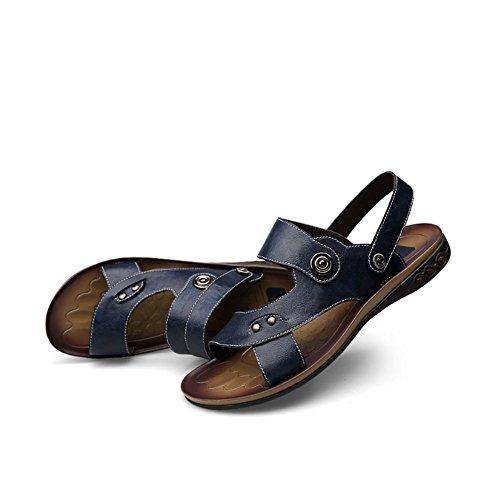 da uomo Sandali delle scarpe spiaggia da un Blu 5 Sandali di 23 estivi scarpe per cm paio con uomoCasual pelle 5 sandali Melodycp 28 in da nw0IqvvYS