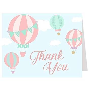 Amazon.com: Globo tarjetas de agradecimiento, globo de aire ...