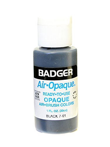 Badger Air Opaque Airbrush Color black 1 oz. bottle [PACK OF 6 ]