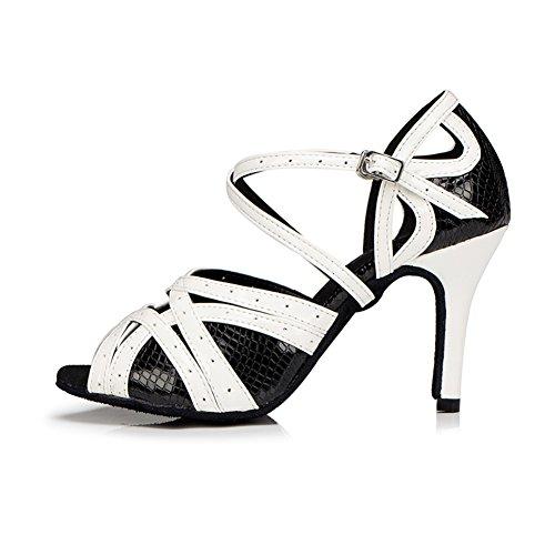 210e0cf3c72 50%OFF Aaron Womens Peep Toe Mid Heel Salsa Tango Latin Monk Strap Dance  Sandals