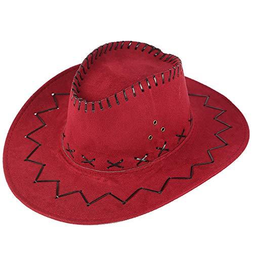 (NEARTIME Unisex Sunshade Cap, Summer Outdoor Travel Western Cowboy Hat Casual Solid Mongolian Hat Grassland Visor)