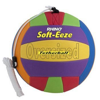Champion Sports Rhino Soft-Eeze Tetherball (Multi, 10-Inch)