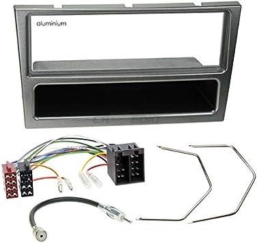 Opel Corsa C 00 – 04 de 1 DIN para Radio de Coche Set en Original Plug & Play Calidad con Antena Adaptador, Radio Cable de conexión, Accesorios y ...