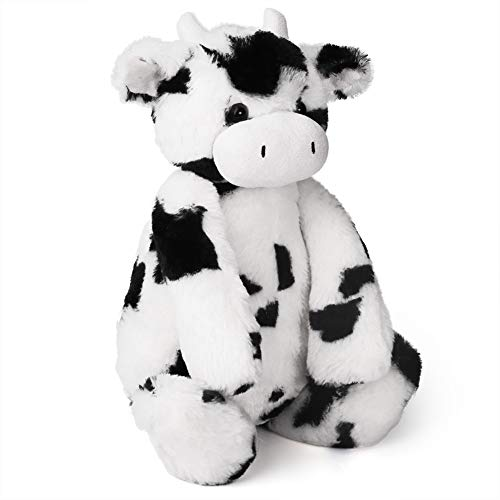 LotFancy Cow Stuffed Animal, Tubbie Wubbie Cow, Soft Cuddly Calf Stuffed Animal Plush Collectible Toy for BabySnuggling, Black & White, Large, 16.5in